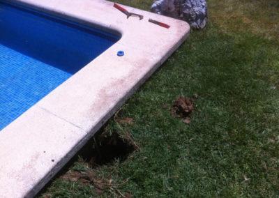 Perdida de agua en piscina